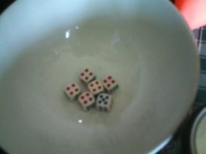 Ooh, a winning combo!  Unfortunately, it wasn't MY roll.  :(