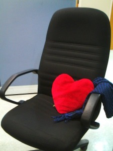 This is where I spend most of my time: my chair in the office.  -_____-