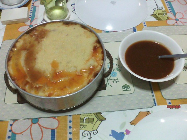 Rancher's Pie with tomato gravy
