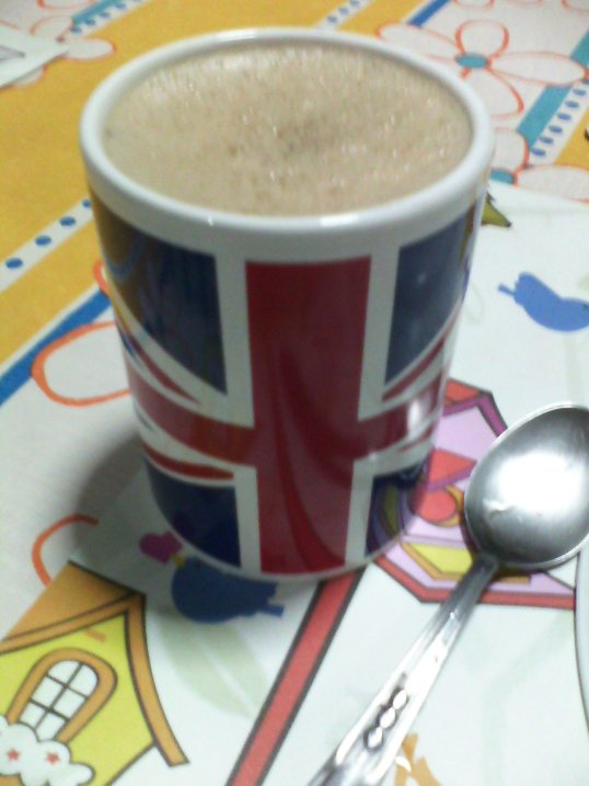 It's a bunch of Japanese and Mexican flavors...in a Union Jack mug.