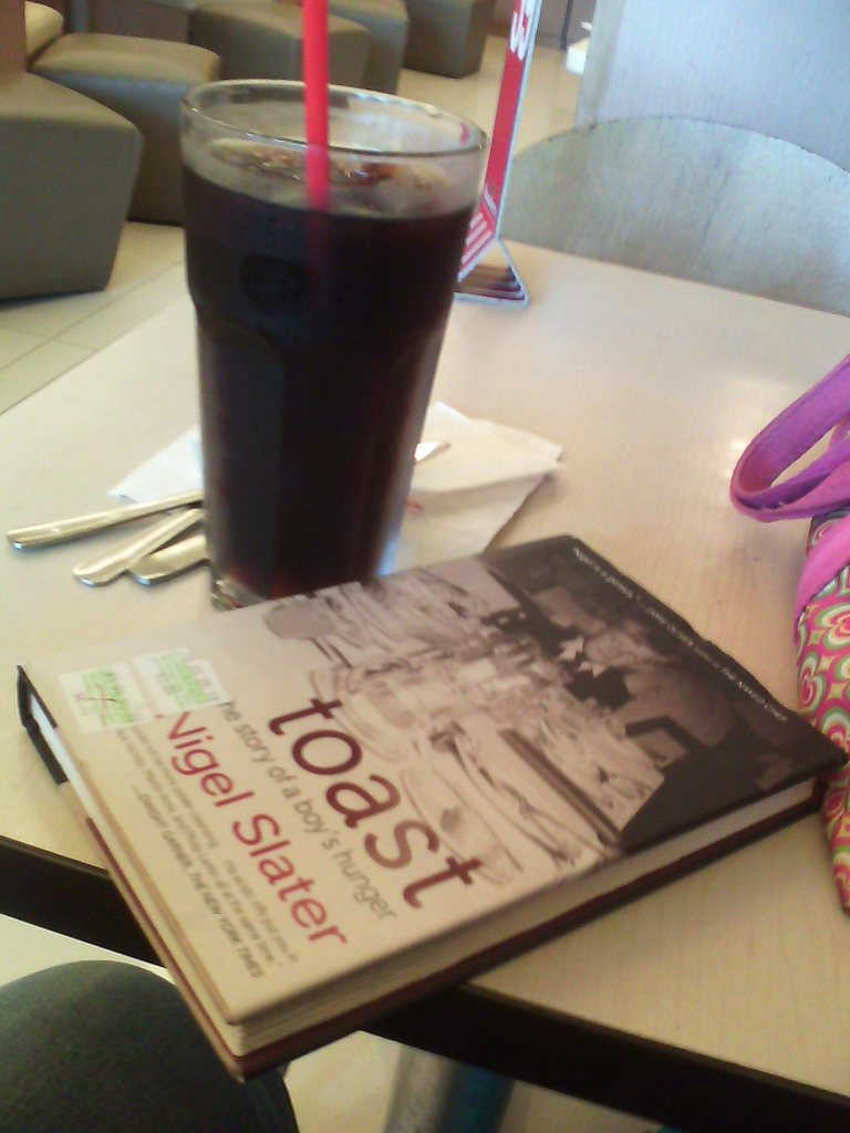 End the meal with a big-arse soda and a volume of Nigel Slater