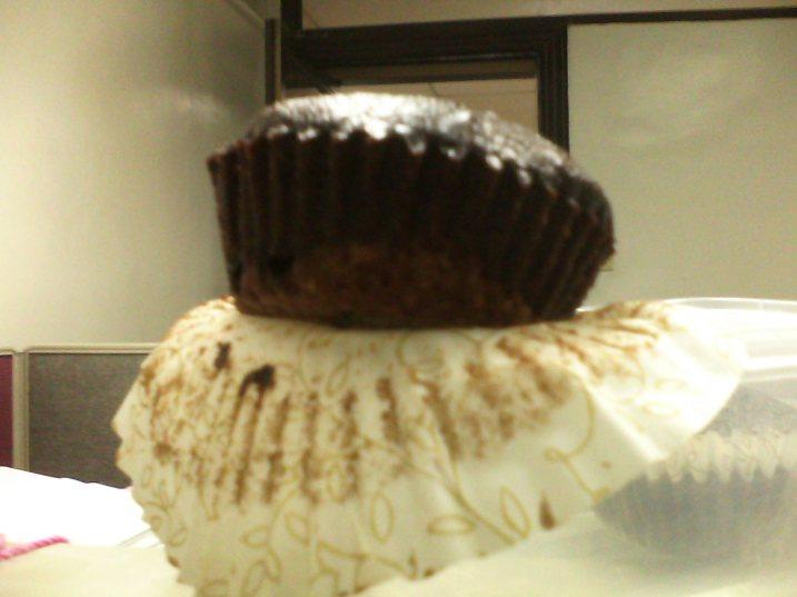 Brownie on top, cookie below...