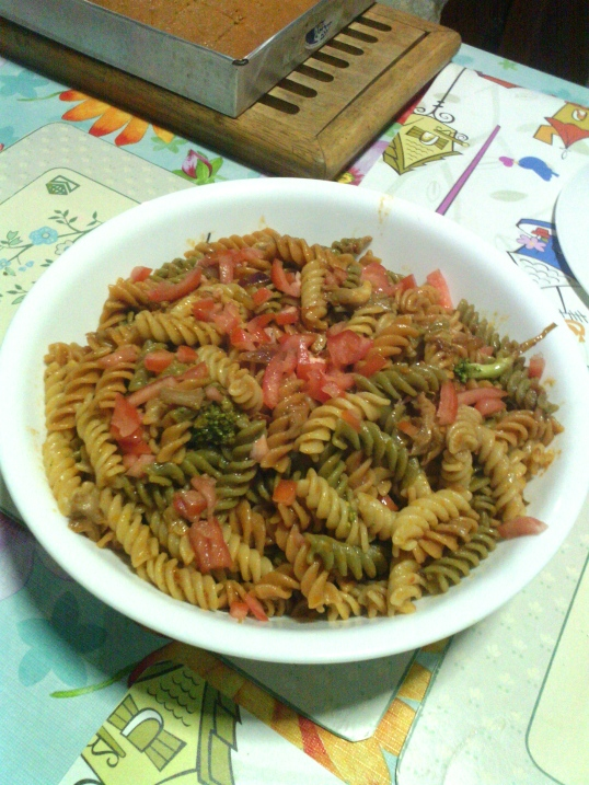 This pasta dish is both light and filling