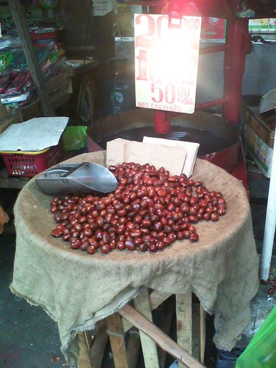 Chestnuts!  Get them while they're still smokin'!