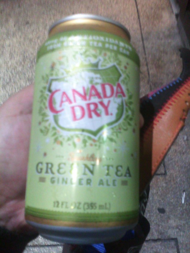 Why is there green tea in my ginger ale?