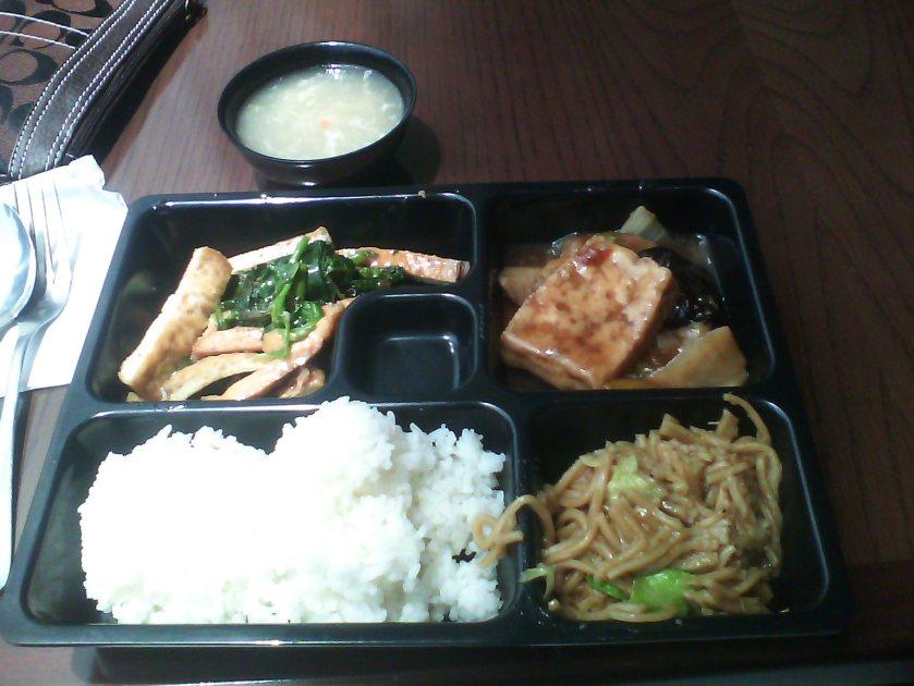 Fish, veg, LOTS of tofu...