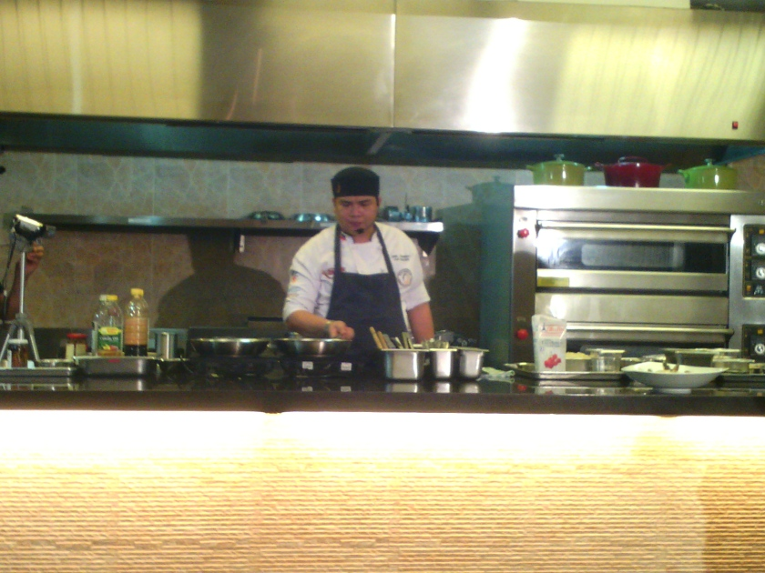 Chef Garie Quiambao works his magic at the cooktop