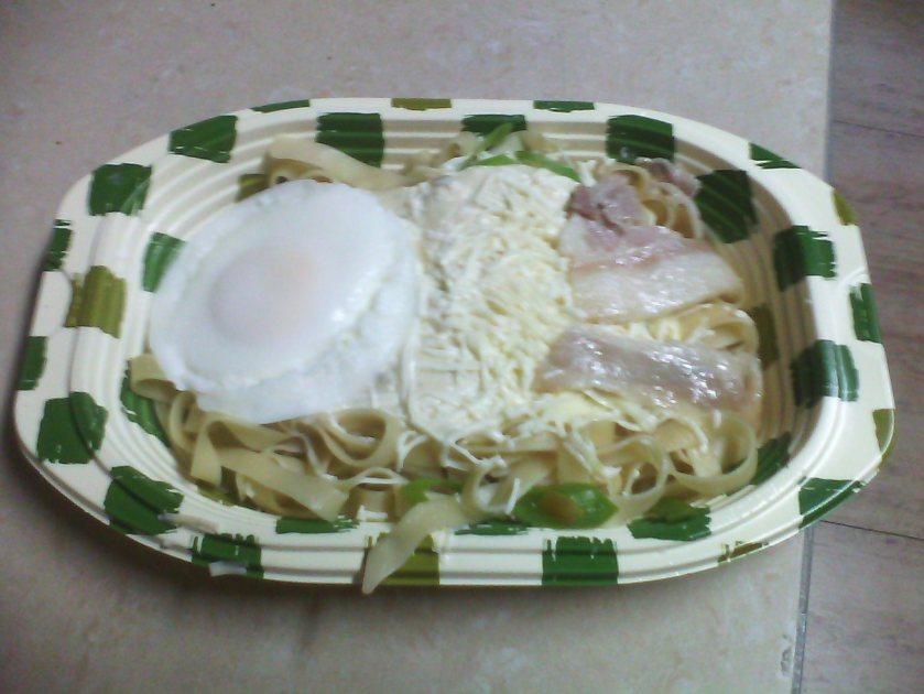 Bacon and Eggs on Fettucine