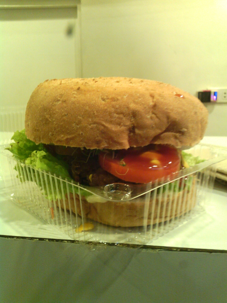 Up with the veg burger!