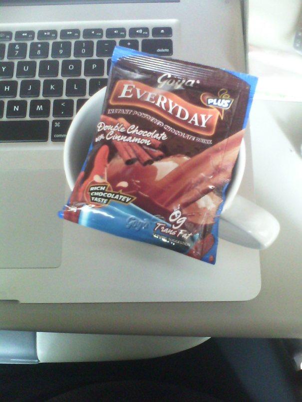 Hot chocolate and cinnamon