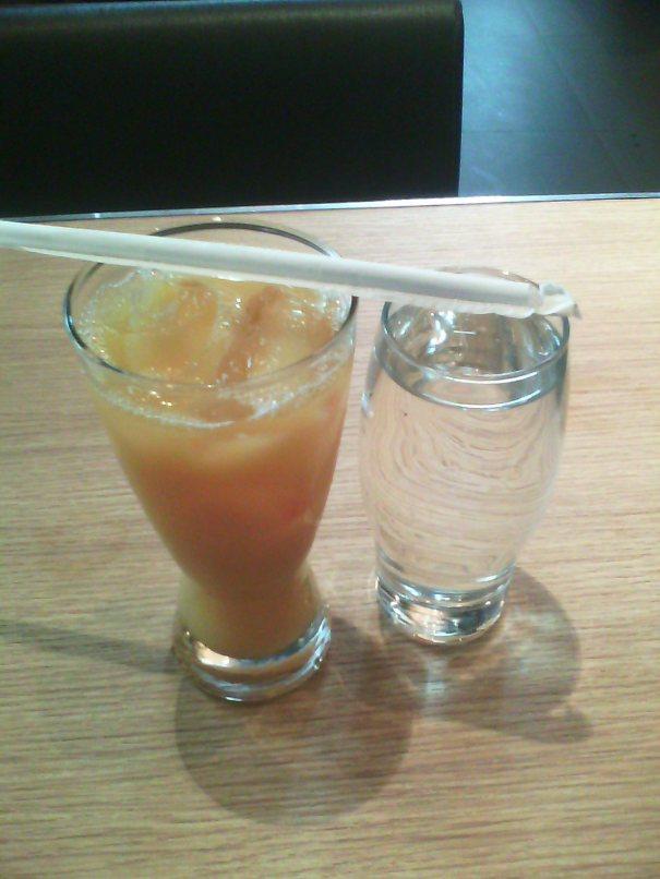 Orange juice for staying perky...