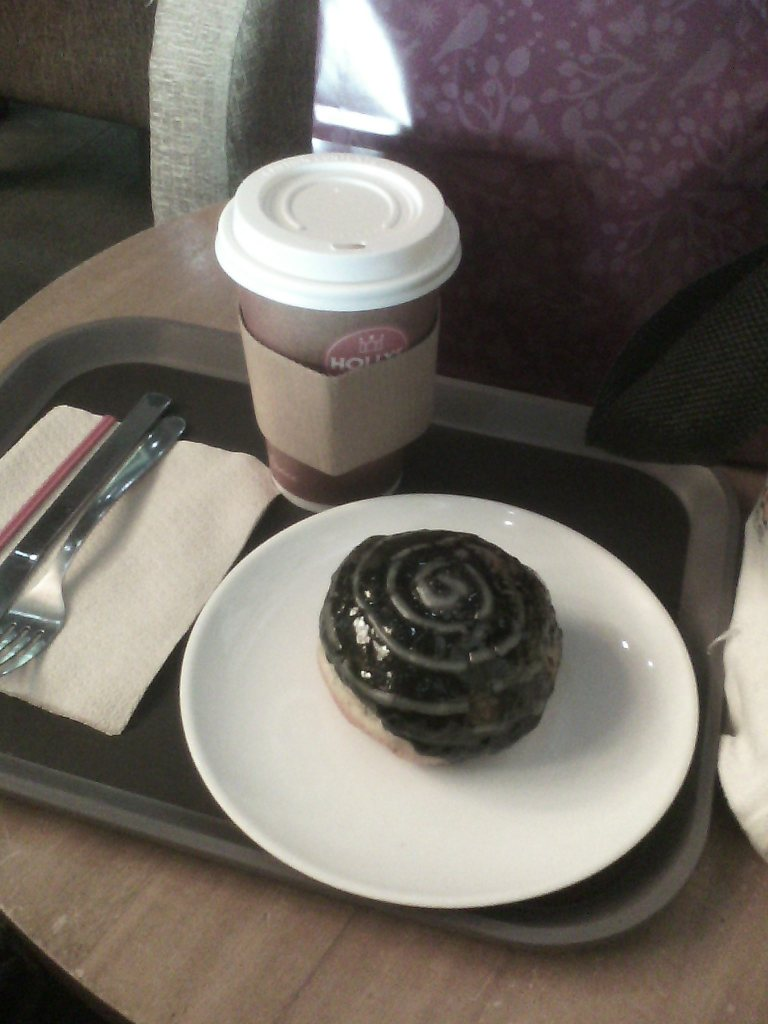 Sea salt Mocha and a Chocolate Berliner