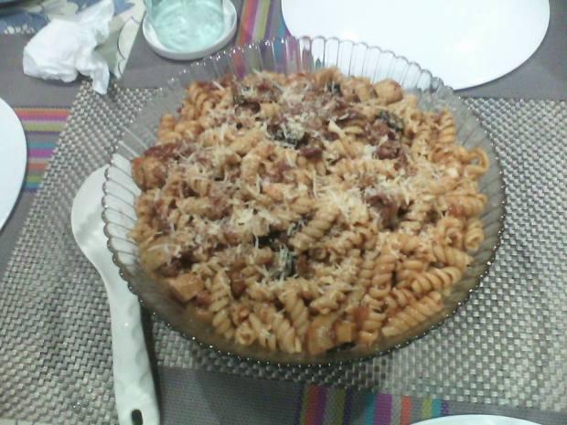 Chorizo and Olive Fusilli
