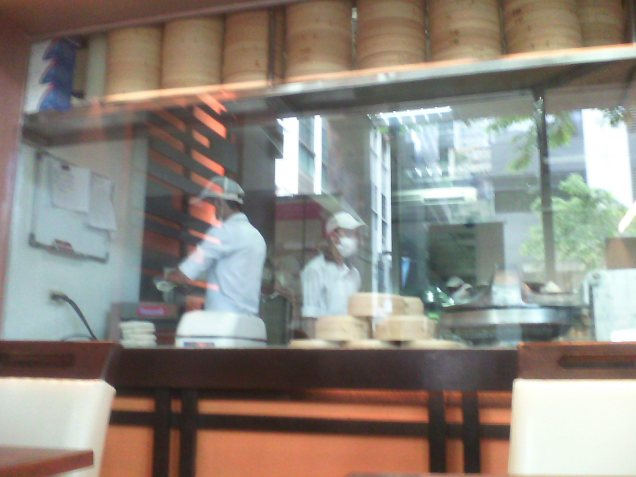 The dumpling kitchen at work