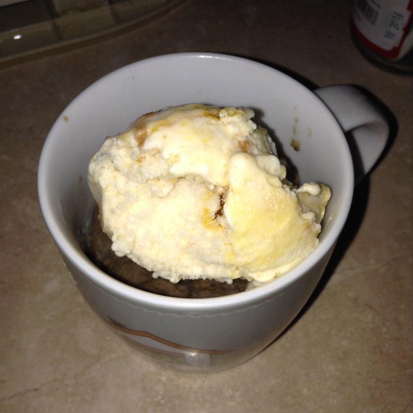 Ice cream is necessary as it melts into a sauce