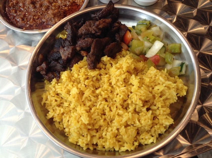 Lamb Steak Rice Plate
