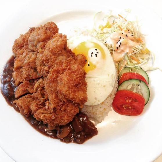 Chicken Katsu with Mushroom Sauce
