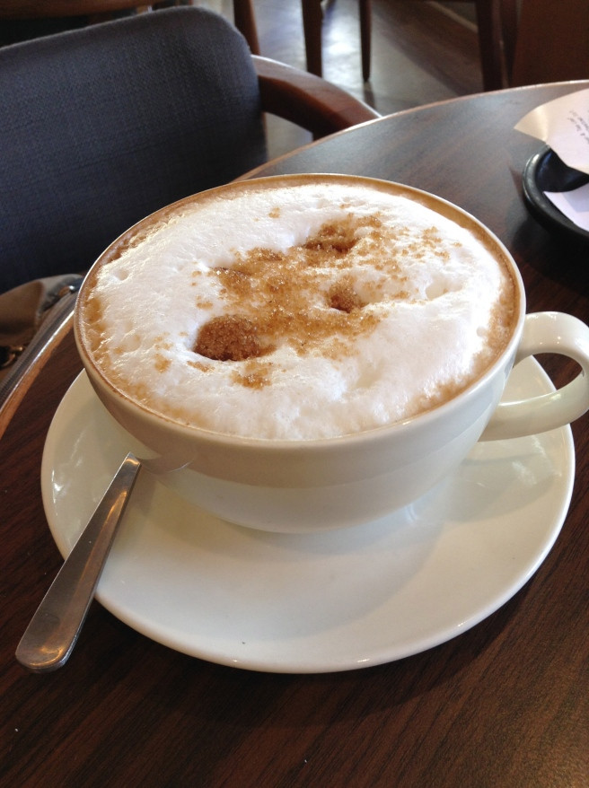 Time for a cappucino...
