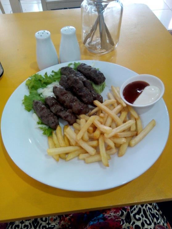 Cevapcici with fries