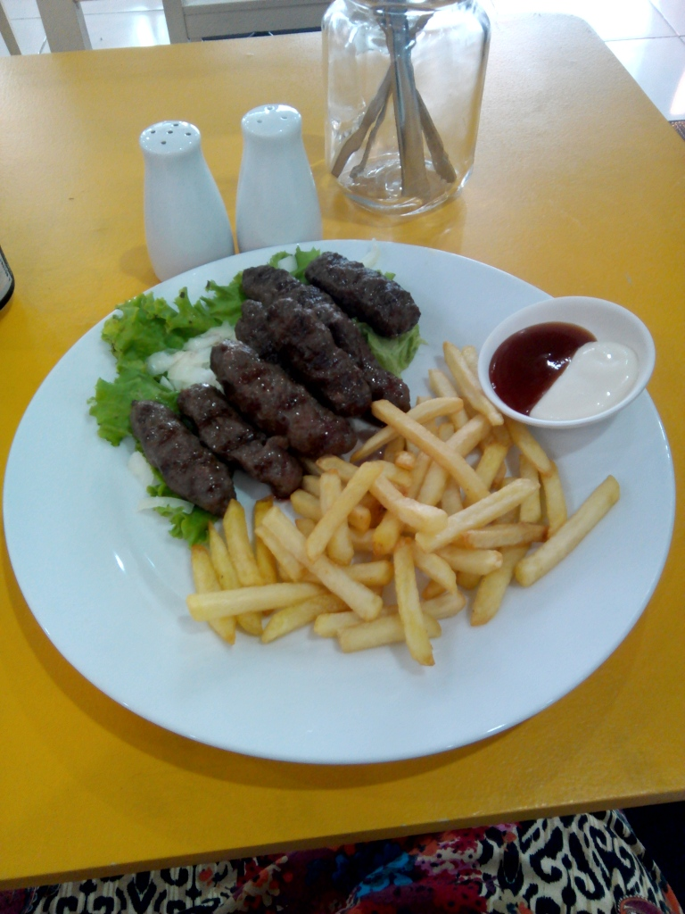 Cevapcici with fries