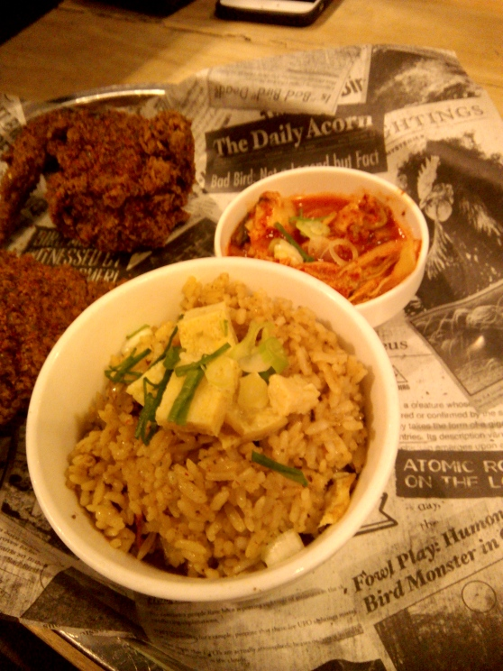 Dirty rice and kimchi for the win